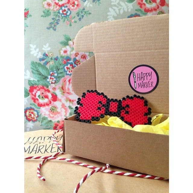 Pixel Hairbow by Happy Marker!  #happymarker #handmade #cute #special #spring #etsy #pixel #bow #red #lovely