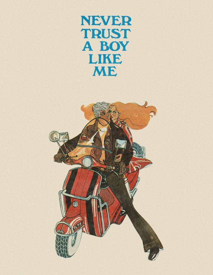 NEVER TRUST A BOY LIKE ME  BY JACKIE MAGAZINE Original illustration from 'A Jackie Complete Story' , Jackie Magazine, 1969