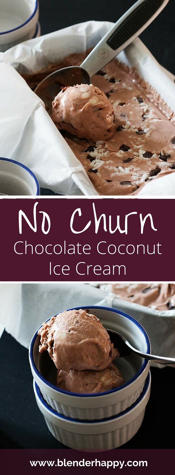 No churn Chocolate Coconut Ice Cream is creamy, delicious and oh so ...