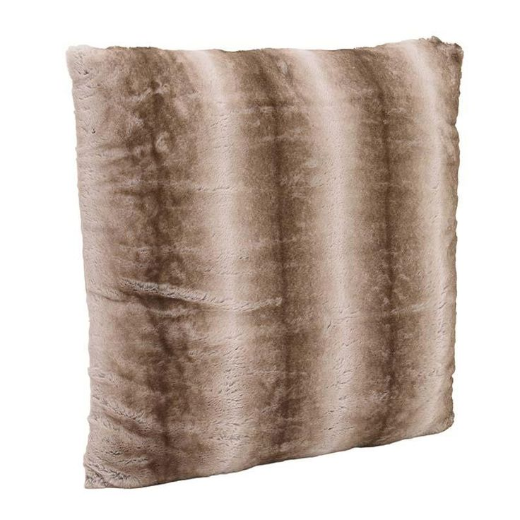 SYNTHETIC FUR CUSHION COVER IN BROWN COLOR 40X40 - Furs - FABRIC ITEMS