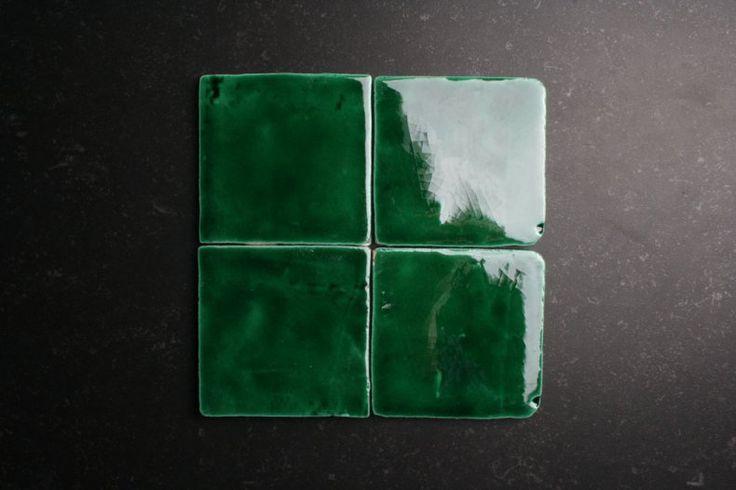 Handvorm zee groen tegels otiles