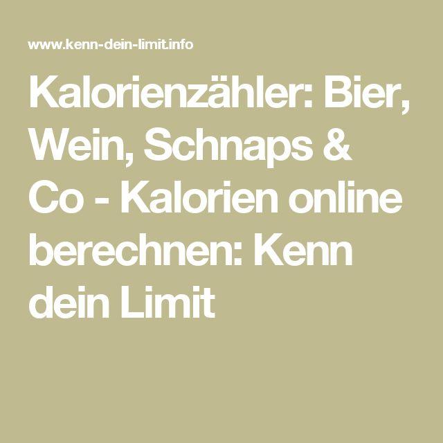 Kalorienzähler: Bier, Wein, Schnaps & Co - Kalorien online berechnen: Kenn dein Limit