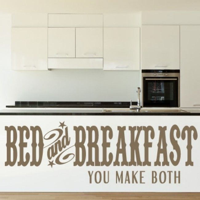 Bed And Breakfast You Make Both Wall Stickers Kitchen Wall Art Decal    Quotes U0026 Slogans   Kitchen   Home U0026 Living Part 88