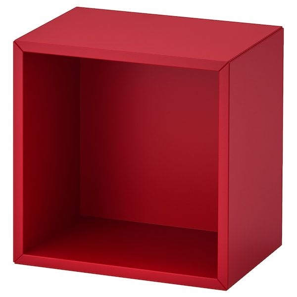 Eket Rangement Rouge Ikea In 2020 Wall Mounted Shelving Unit Eket Wall Shelf Unit