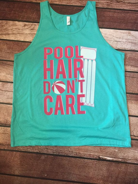 Pool Hair Don't Care by ScrapCrazyDesigns on Etsy