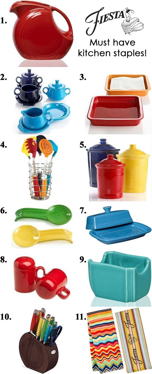 for mom: Counter top accessories, coffee & tea, utensils and more! Whether you are just getting started or a long time collector, there are a handful of Fiesta items that are a must-have for the kitchen. Here are our top picks!