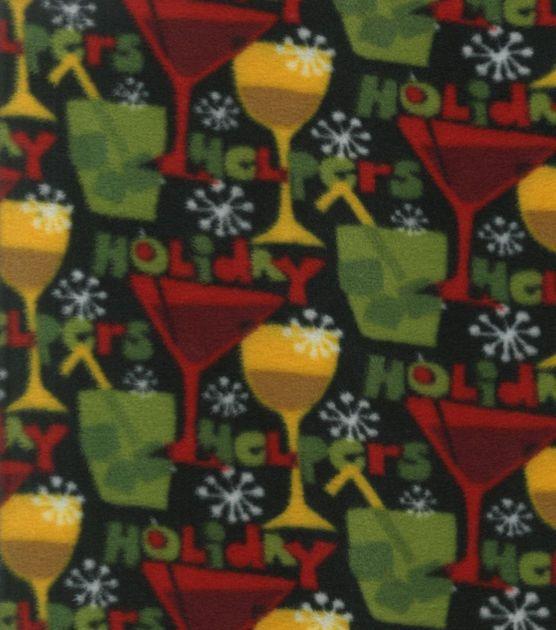 Holiday Inspirations Fabric-Christmas Holiday Helpers Fleece at Joann.com