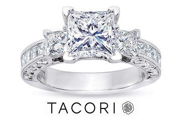 not a fan of the side stones, but princess cut with channel stones is a must.