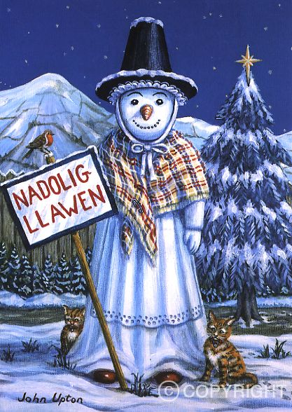 Snowlady | Welsh Greeting Cards | Huw Thomas Gallery