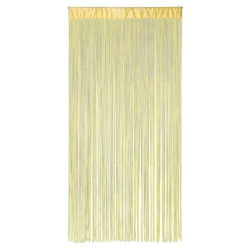 Deko-Woerner Fransenvorhang gelb 100x200cm