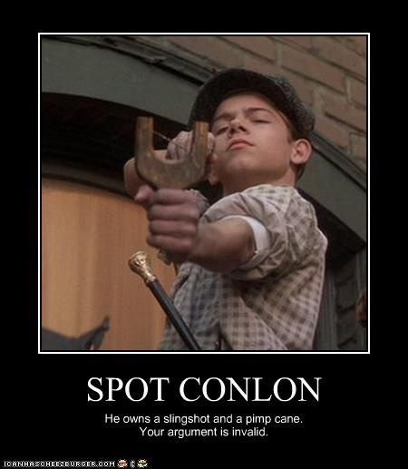 """I says what you says is what I says""  Spot Conlon of Newsies   Favorite character from one of my favorite movies!!"