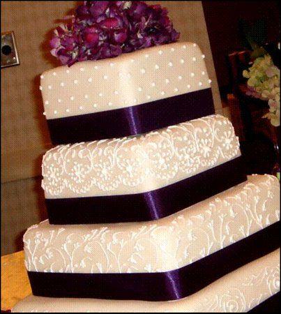 #purple wedding ... square purple wedding cake