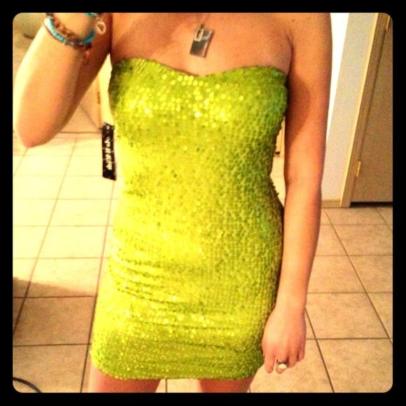 Green sequin &quotAs You Wish&quot cocktail dress BNWTNWT