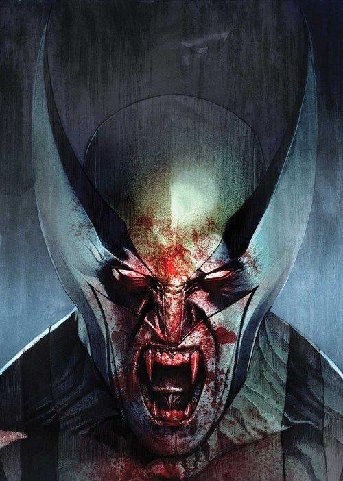 """Descripción gráfica de """"What If Wolverine became a vampire during Inferno""""."""