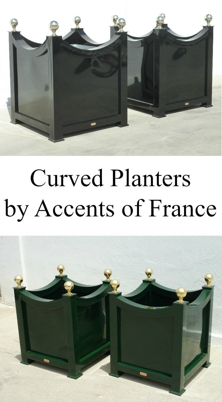 Curved Planters Designed And Manufactured By Accents Of France