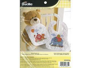Cross-stitch - Bucilla Cross Stitch Kit Bibs Two By Two
