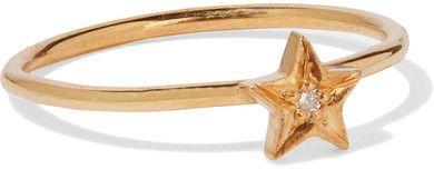 IAM by Ileana Makri - Polar Star Gold-plated Swarovski Crystal Ring - 7