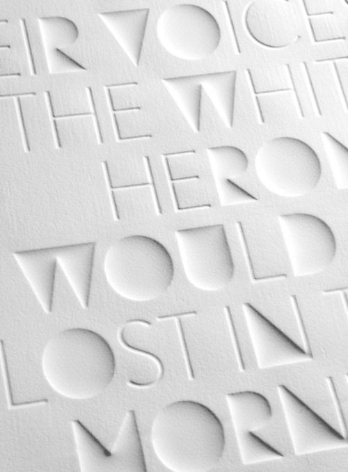 Haiku is an experimental graphic design poster print project showing the words of a haiku in white 3D typography by Eli Kleppe.
