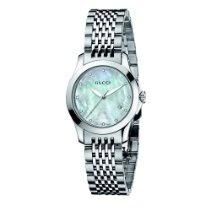 Gucci Women's YA126504 G-Timeless Diamond Marker White MOP Dial Watch