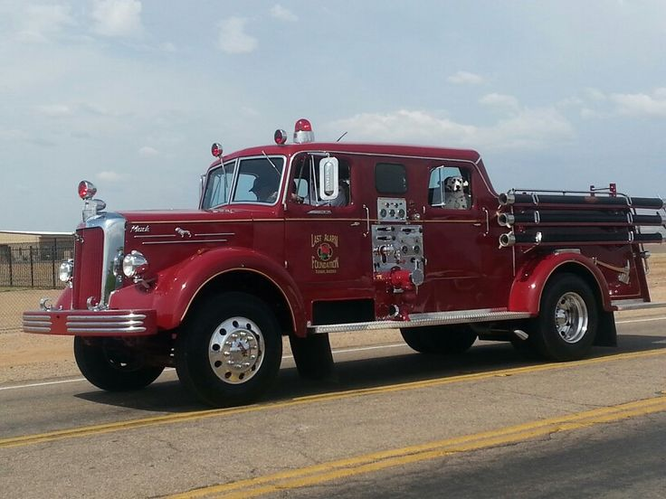 1954 Mack L Fire Truck....restored specifically too carry caskets of fallen firefighters during funerals....