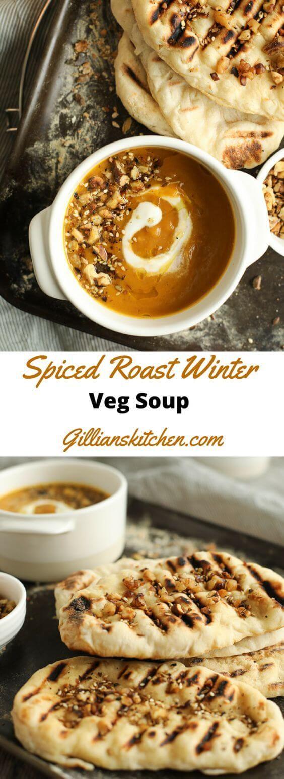 cool Spiced Roast Winter Veg Soup