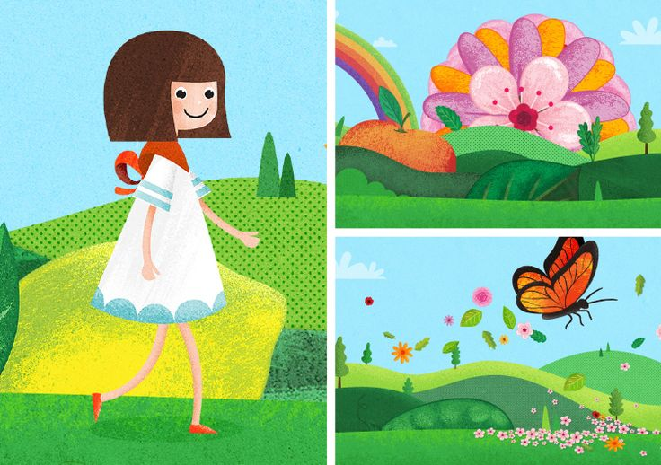 ODERINGS Our solution lay in a character we called Little Miss Oderings, who goes on an animated journey through magical landscapes. Bright, whimsical illustrations capture the inspiration of the Oderings brand, supported by compelling specials to drive customers in store. We extended the campaign beyond TV to online advertising and even the store environment with large cutouts of the character and illustrations.