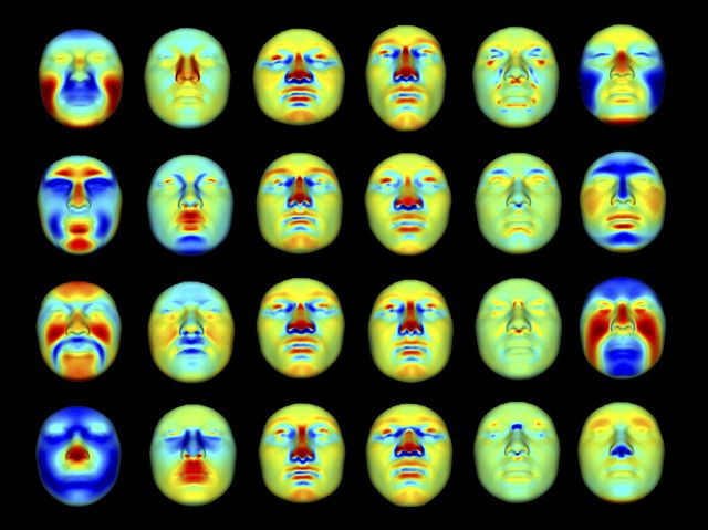 Genes for Faces: Modeling 3D Facial Shape from DNA Image courtesy of Mark Shriver and colleagues Research published in PLOS Genetics, March 2014