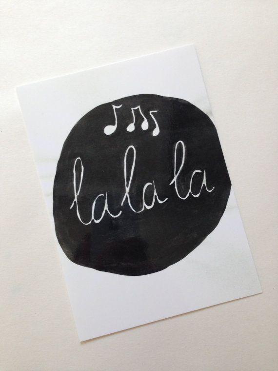 Poster Lalala A2 van MOCreatie op Etsy, €7.00