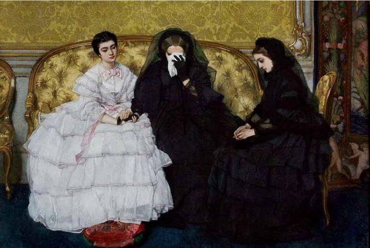 """""""In Memoriam"""", c. 1858-c.1861, by Alfred Stevens (Belgian, 1823-1906)."""