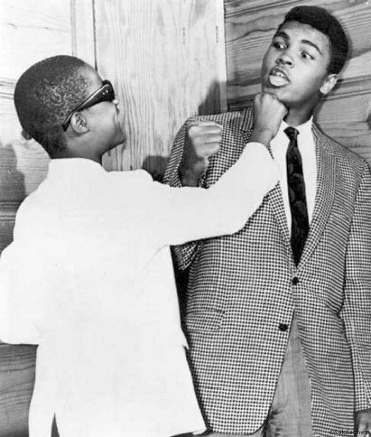 Стиви Уандер с Мохаммедом Али в США