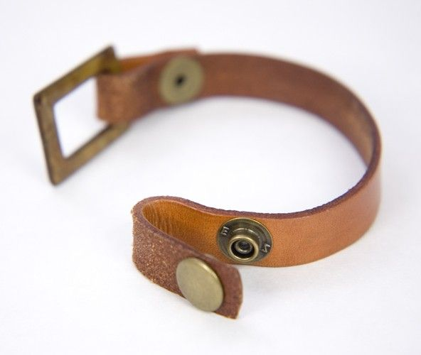 Dyed Loop-end Leather Bracelet with Standard Snap or MXS Peg. $12.00, via Etsy.