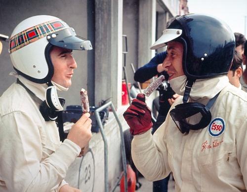 Jackie Stewart and Jim Clark