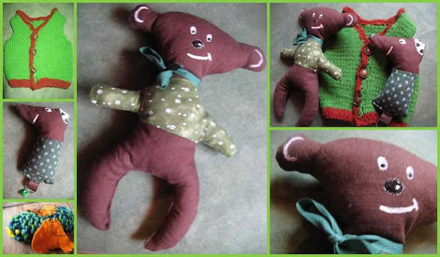 teddy bear - rattle toy for a friends baby