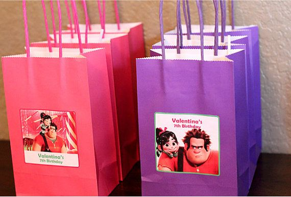 Wreck it Ralph Birthday Goody Bag Labels by CutieExpressions, $8.00 Wreck it Ralph printable birthday labels, Venellope goody bags