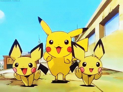 Happy Pikachu & Pichu Pokemon Running For Ash Ketchum