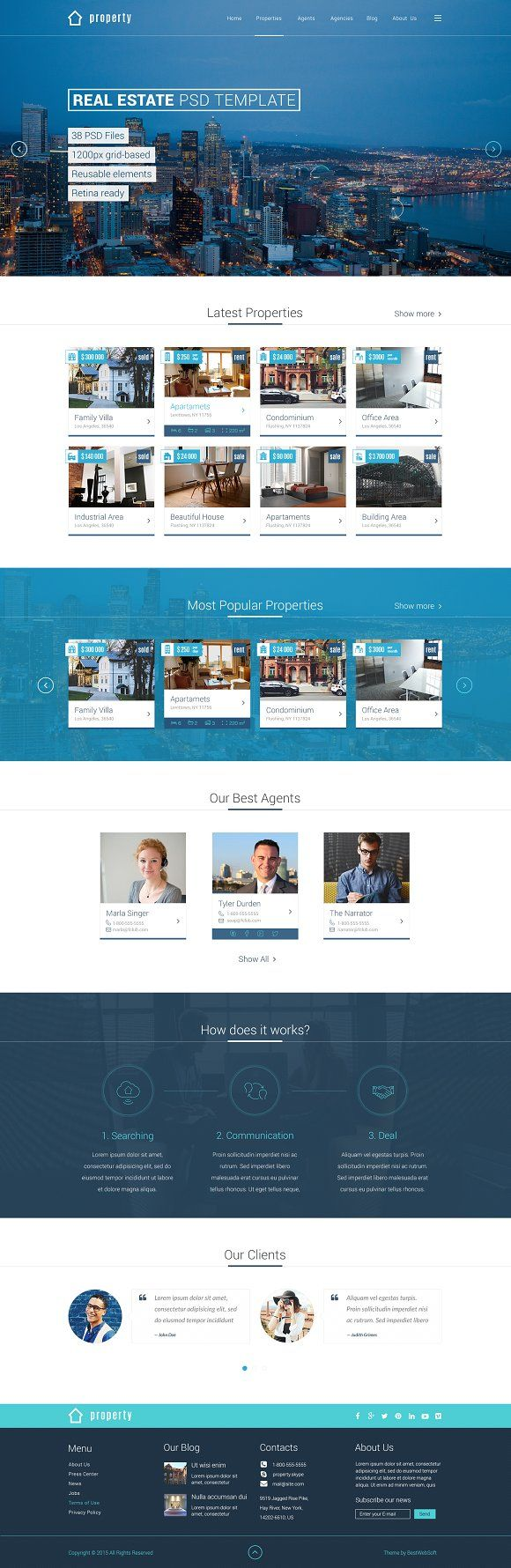 Property - Real Estate PSD Template by bestwebsoft on @creativemarket