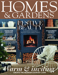 January 2015. This is a festive extravaganza with elegant houses ready for Christmas, including a former tavern that's now a family home, a modern apartment in the Italian mountains and a renovation in London. We have ideas for last-minute touches to heighten the seasonal feel, from candlesticks to crackers via decorative flowers. Frost fairs held on the frozen Thames inspire our decorating feature, while our town and country interiors take rustic style and give it an urbane spin.
