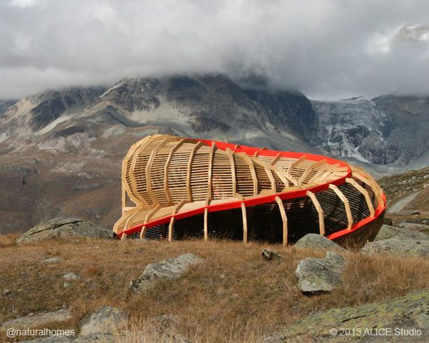 It was designed and built in wood by a team of year architecture students  from the ALICE studio ...