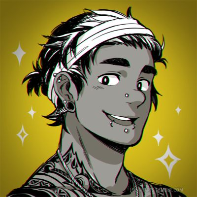 Tattoo/Piercing AU? Hunk