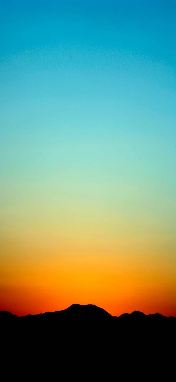 Orange Blue Gradient Wallpaper By Efforfake On Deviantart Blue Sunset Wallpaper Pretty Wallpapers