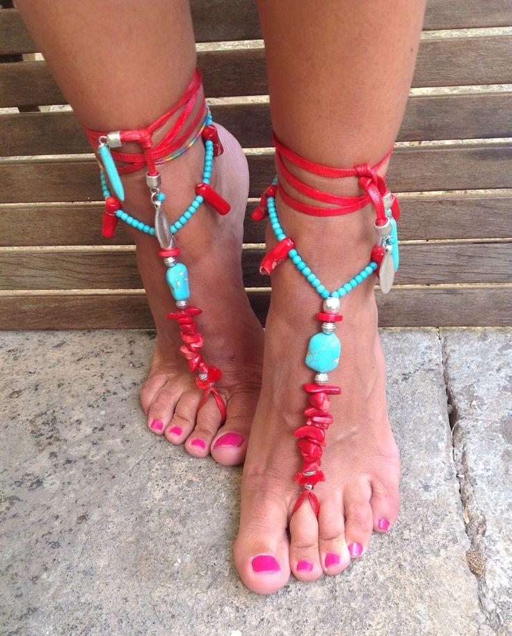 Tobilleras, adornos para pies.