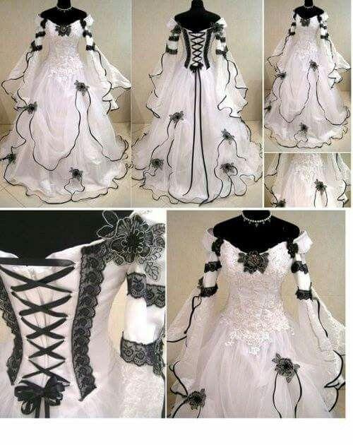 Medieval wedding dress goth handfasting larp wicca costumre witch halloween robe