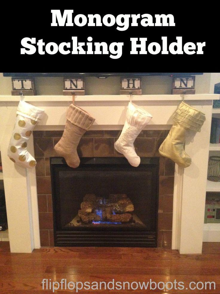 Monogram Stocking Holder - Dream Design DIY