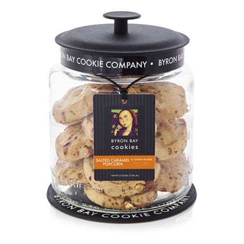 Unwrapped Cafe Cookie 60g - Salted Caramel Popcorn - Byron Bay Cookies (12x60g) by Christine Manfield