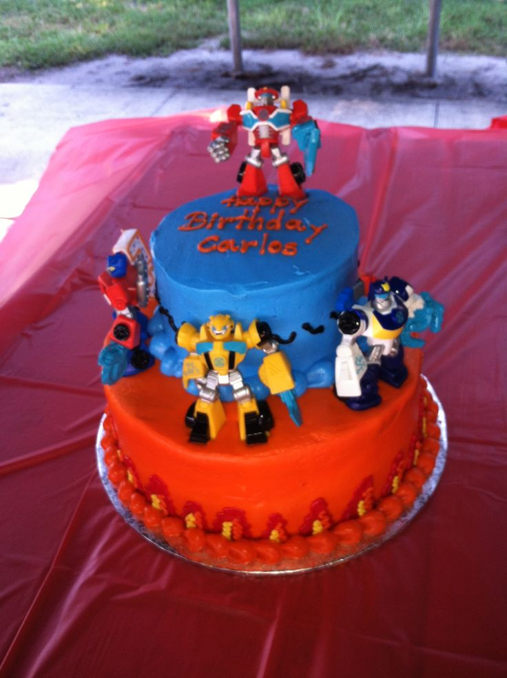 Rescue Bots Birthday Party- Rescue Bots Birthday Cake