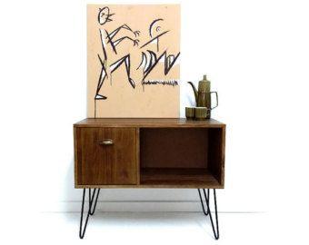 Vinyl Record Storage, Konsolentisch, Rekord Schrank, Sideboard, Media-Konsole, Vinyl-Kabinett, LP Lagerung, Aufzeichnung Stand, Massivholztisch