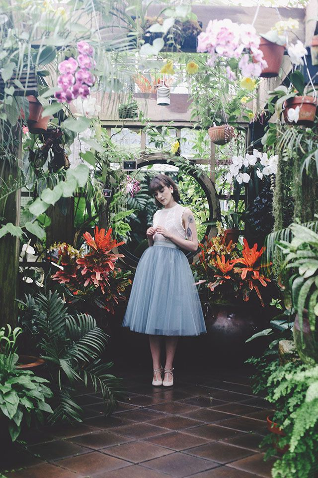 """Alexandra Grecco Dusty Blue 30"""" Tulle Skirt worn by Kiana from Finch & Fawn"""