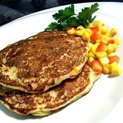 Sweetcorn and potato pancakes