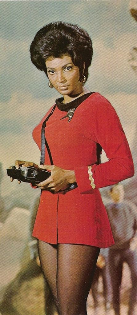 "Women of ""Star Trek"" Lt. Uhura played by Nichelle Nichols."