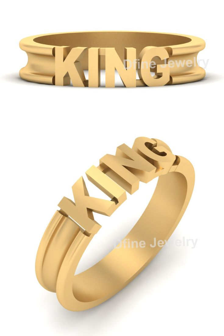 Solid 18k Yellow Gold King Engagement Band Men S In 2019